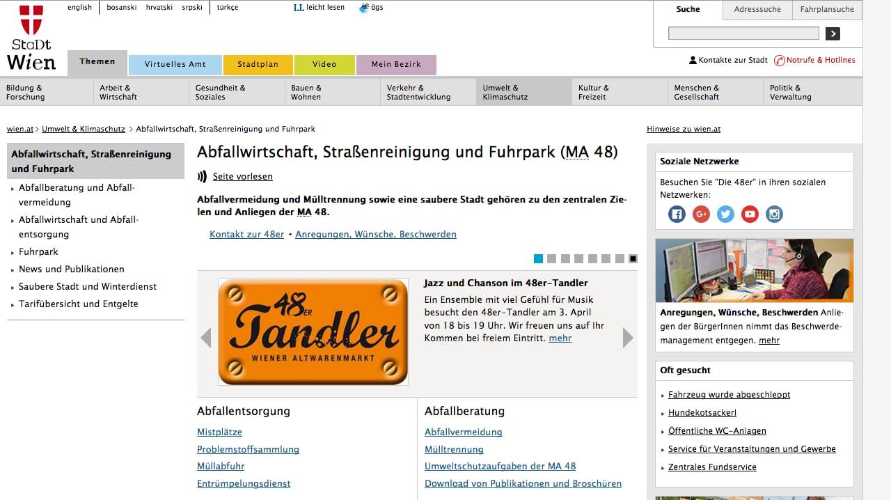 Screenshot 2018 4 9 Abfallwirtschaft Straßenreinigung und Fuhrpark MA 48 - Partner und Kooperationen