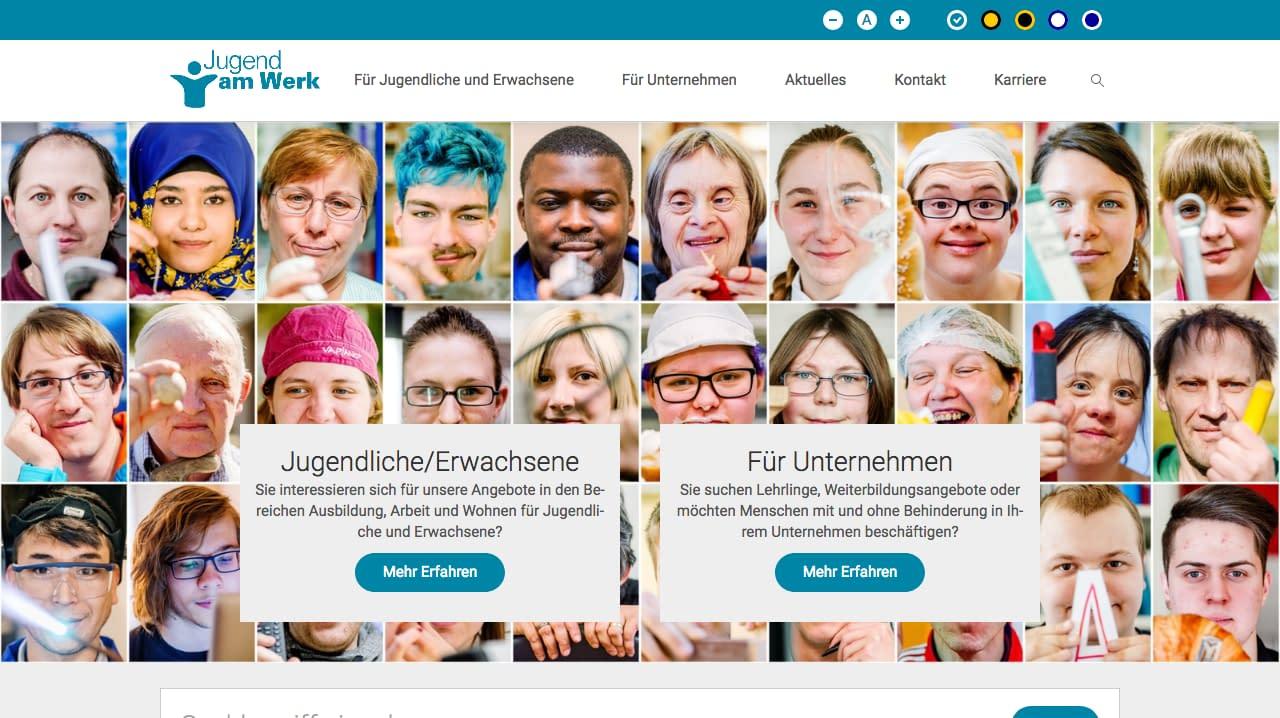 Screenshot 2018 4 9 Jugend am Werk Unterstützen Begleiten Fördern Qualifizieren - Partner und Kooperationen