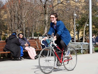 Damenrad Rennrad Glücklich