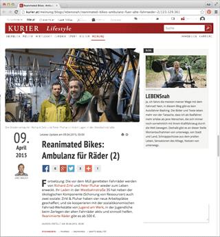 rb presse kurier2 320px - Reviews und Presse