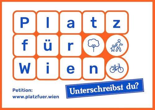 Platz für Wien unterschreiben 1 - Fahrradgeschäft Wien Neubau
