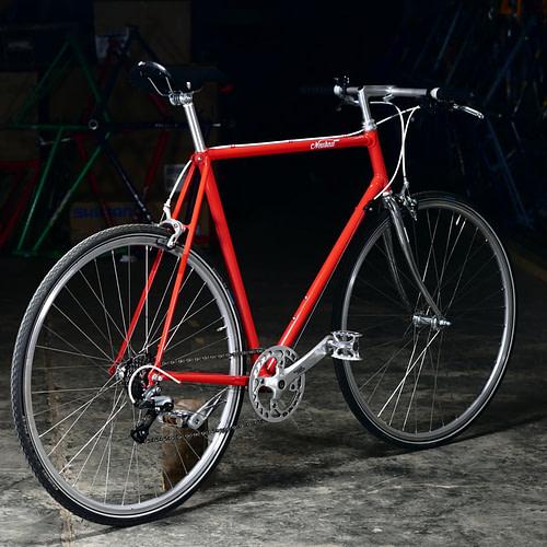 P1160710 - Neubau sport, Rot/Chrom